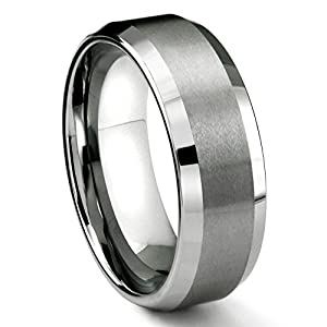 8mm tungsten metal s wedding band ring in comfort fit