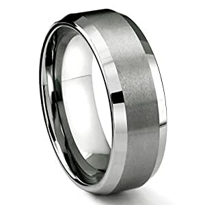 8MM Tungsten Carbide Men's Wedding Band Ring in Comfort Fit and Matte Finish Sz 5.0