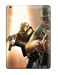 Tpu Case Cover For Ipad Air Strong Protect Case - Video Game Army Of Two Design