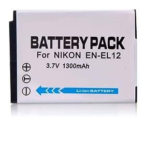 3.70V,1050mAh,Li-ion,Hi-quality Replacement Digital Camera Battery for NIKON COOLPIX S1000pj, Coolpix S6000, Coolpix S610, Coolpix S610C, COOLPIX S620, COOLPIX S630, Coolpix S710, Coolpix S8000, S640, S70, Compatible Part Numbers: EN-EL12