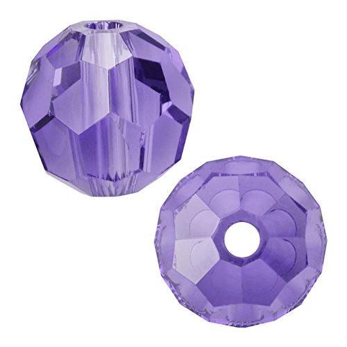 - Swarovski Crystal, 5000 Round Beads 8mm, 8 Pieces, Tanzanite