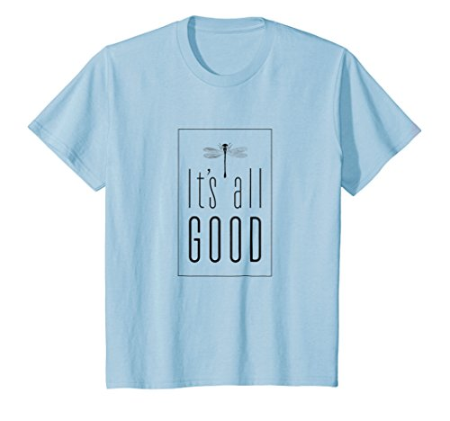 Kids It's All GOOD Dragonfly t-shirt 10 Baby Blue