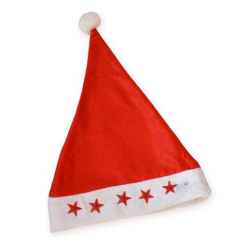 [Christmas Classic Unisex Santa Hat Cap Festival Ornament Party Holiday Gift Headwrap] (Black Widow Marvel Makeup)