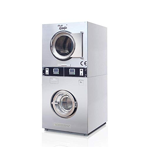 (double stack clothes washer and dryer,Coin-operated Stacked washers & dryers, double deck washer and dryer )