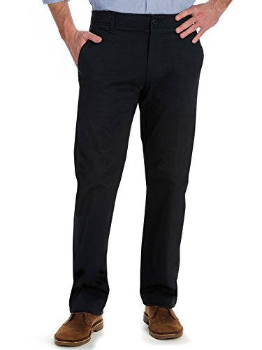 LEE Men's Performance Series Extreme Comfort Khaki Pant, Navy, 40W x 34L (Straight Leg Business Pants Men)