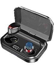 Bluetooth Kopfhörer In Ear Gemtop Kopfhörer Kabellos, [2019 Neueste] Bluetooth 5.0 Headset Noise Cancelling LED Sportkopfhörer HiFi Stereo Sound Ohrhörer Wireless mit 3000mAh Batterie IPX7 Wasserdicht