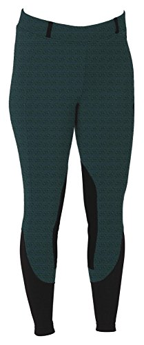 Kerrits Sit Tight 'N Warm WindPro Kneepatch Breeches Teal Large