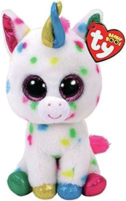 76b6e859cca Amazon.com  Ty Harmonie Unicorn Beanie Boo 15cm  Toys   Games
