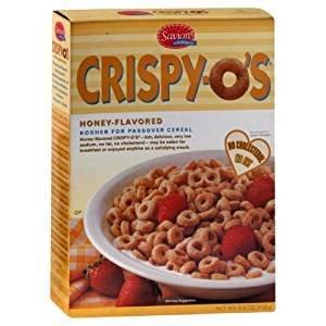 Crispy-O's Honey Flavored Kosher For Passover 6.6 Oz. Pack Of 3.