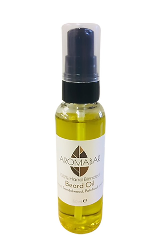 Beard Oil 60ml with Cedarwood, Sandalwood, Patchouli and Lemon Pure Essential oils 100% Natural Oils Beard Conditioning Oil Woody Scent Softens and Conditions Aromabar