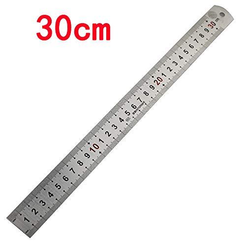 Wllsagl Xouwvpm Steel Ruler Metal Double Rule Metric Imperial Flexible Accuracy Straight Ruler for Measuring Engineering School College 15/30CM (Silver B)