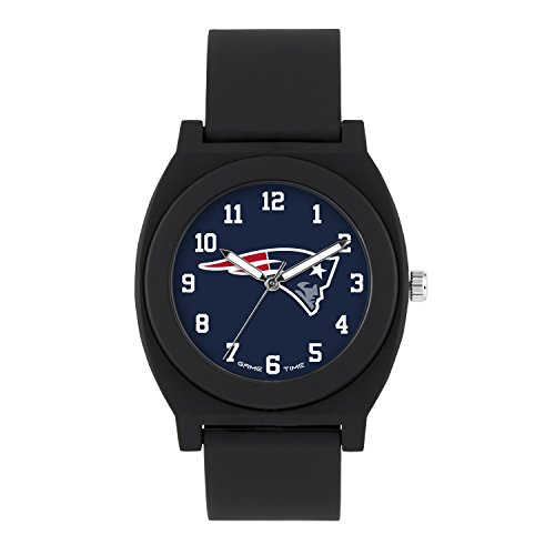 NFL New England Patriots Mens Fan Series Wrist Watch, Black, One Size