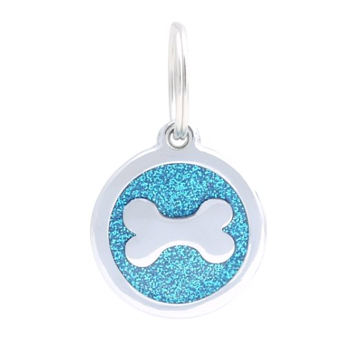 pettouchid-smart-glitter-pet-id-tag-qr-code-contactless-nfc-gps-location-bone-blue