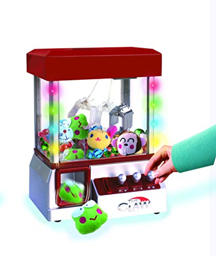 The Claw Toy Grabber Machine with Flashing lights & Sounds and Animal Plush - Features Electronic Claw Toy Grabber Machine, Animation, 4 Animal Plush & Authentic Arcade Sounds for Exciting - Machine Blue Claw