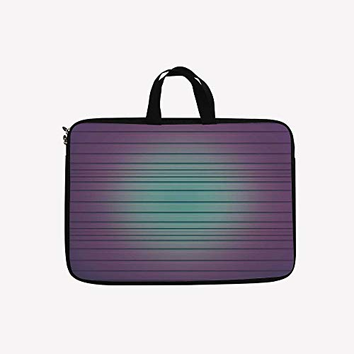 """3D Printed Double Zipper Laptop Bag,Parallel Lines Striped Textured New Lined,17 inch Canvas Waterproof Laptop Shoulder Bag Compatible with 17""""/ 17.3"""" inch Laptop."""