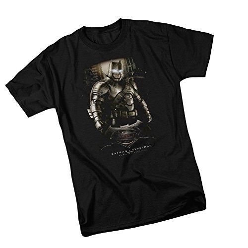 Batman -- Batman v Superman: Dawn Of Justice Adult T-Shirt, Medium (Ben Affleck Best Batman)