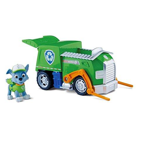Spin Master 6022369-ROCKY パウパトロール車両オンロールおもちゃ ロッキー リサイクルトラック