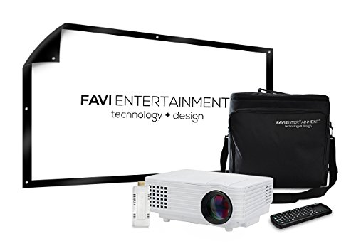 Favi h1w led lcd wvga mini video projector kit includes 5 for Miroir wireless