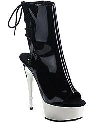 Pleaser Womens Del1018/Bpu/Sch Ankle Bootie