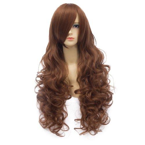 Brown wavy curly ramp bangs long Cosplay wig Toradora/Aisaka Taiga/APH/Hungary (Toradora Taiga Cosplay Costume)