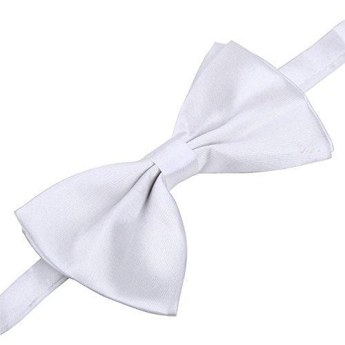 White Bow Tie All White Bowtie for White Tie Dress Code