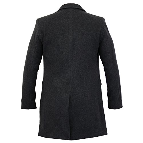 Foderato Cashmere Carbone Cappotto Slim Woolg11 Uomo Nuovo Fit Lana Trench Giacca Invernale Caldo H01qAx4wU