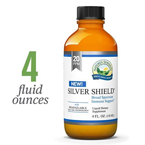 Nature's Sunshine Silver Shield Liquid, 4 fl. oz. | Colloidal Silver Liquid with Aqua Sol Technology Provides Immune Support and Protection