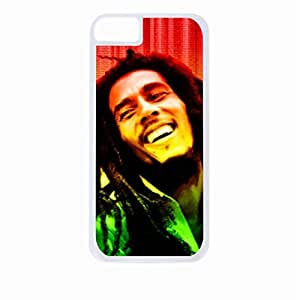Singer Bob Marley-Colorful Photo- Hard White Plastic Snap - On Case-Apple Iphone 5C Only - Great Quality!