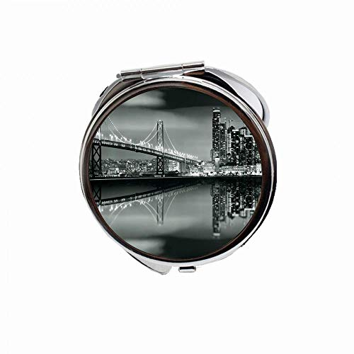Huayuanhurug Black and White San Francisco Bay Bridge Metropolis Panorama View with -