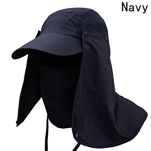 H-wairtees Sport Camping Visor Hat Outdoor UV Protection Face Neck Cover Fishing Sun Cap