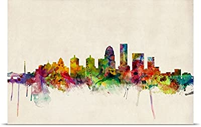 Michael Tompsett Poster Print entitled Louisville Kentucky City Skyline