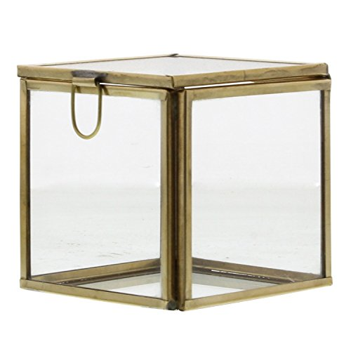 Mini Glass Cube Gold Display Box Set - 3
