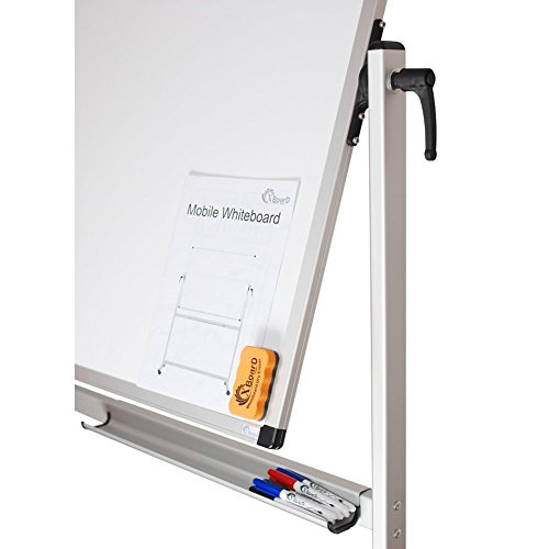 XBoard School Office Mobile Magnetic Dry Erase Board on Wheels,Double-Sided Rolling Whiteboard with Aluminum Stand, 60'' x 40'' by XBoard (Image #2)