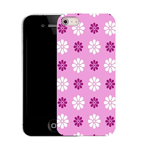 Mobile Case Mate IPhone 4 clip on Silicone Coque couverture case cover Pare-chocs + STYLET - tickled pink daisy pattern (SILICON)