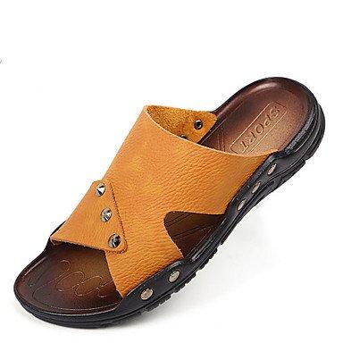 SHOES-XJIH&Gli uomini del foro di sandali di gomma Scarpe estive di acqua all'aperto foro scarpe scarpe tacco piatto verde nero/rosso kaki blu royal,verde,US9.5 / EU42 / UK8.5 / CN43