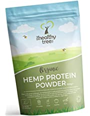 Organic Hemp Protein Powder by TheHealthyTree Company - Harvested in Europe - High in Omega-3, Iron, Amino Acids and Magnesium - Pure, Vegan Raw Hemp Protein Powder (600g)