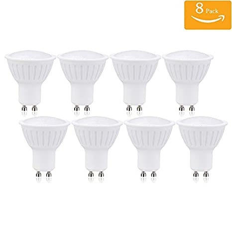 GU10 LED Bulb 7Watt Spotlight GU10 Base Dimmable 120 Voltage 120 Degree Beam Angle 700 Lumens 4000K Natural White Glow Recessed Lighting 70Watt Halogen Bulbs Equivalence 4 Pack