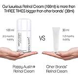 Retinol Cream for Day & Night by Poppy Austin - Cruelty-Free & Organic, with 2.5% Retinol, Vitamin E, Green Tea & Shea Butter, Triple Sized 3.4 oz