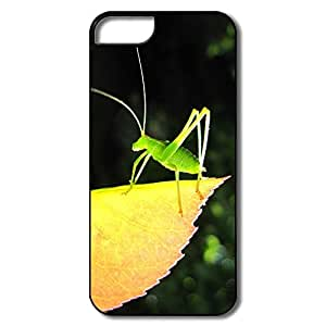 IPhone 5/5S Case, Small Green Grasshopper White/black Case For IPhone 5