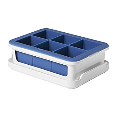 OXO Good Grips Silicone Stackable Ice Cube Tray with Lid - Large Cube