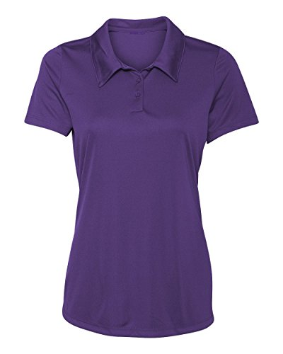 (Animal Den Women's Dry-Fit Golf Polo Shirts 3-Button Golf Polo's in 20 Colors XS-3XL Shirt PURPLE-2XL)