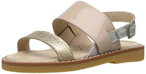Elephantito Girls' Paloma Sandal, Blush, 8 M US (Metal Kids Sandals)