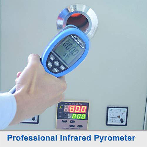 BTMETER BT-1500 Infrared Thermometer Gun 30:1 Digital High Temp Pyrometer,  IR Temperature Tester -58℉ - 2732℉ (-50℃ to 1500℃) Dual Laser Pointerswith