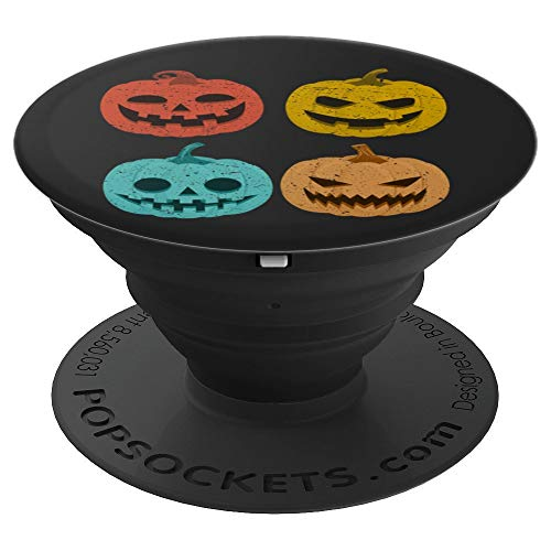 Vintage Pumpkin Funny Retro Pop Squash Halloween - PopSockets Grip and Stand for Phones and -