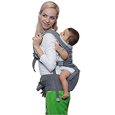 DaDa Airflow 360 Ergonomic Baby Carrier with Hip seat for Infants and Toddler, 7 comfortable & safe positions, perfect for nursing, hiking and traveling,best baby shower gift