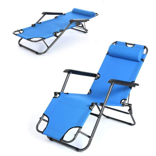 HappyShopShop Adjustable Reclining Folding Chair Outdoor Indoor Lounge Pool Beach Camping Sunbathing Recliner Lounger Portable Picnic Bed (Loungers Iron Sun Cast)