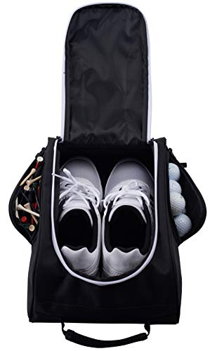 Bag Carrier Tool Man (Athletico Golf Shoe Bag - Zippered Shoe Carrier Bags with Ventilation & Outside Pocket for Socks, Tees, etc. Perfect Storage (Black))
