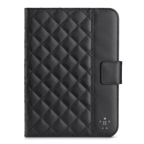 Belkin Quilted Cover with Stand for iPad mini 3, iPad mini 2 with Retina Display and iPad mini (Black) by Belkin