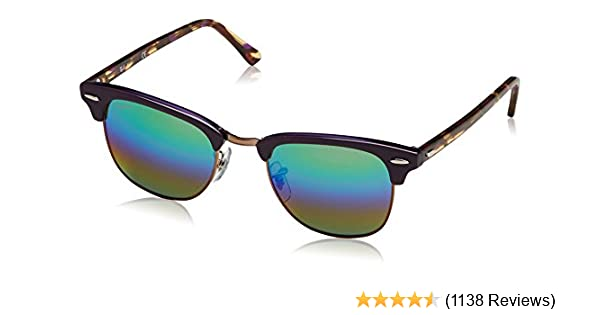 779ec8afc5 Amazon.com  Ray-Ban RB3016 Classic Clubmaster Sunglasses  Clothing