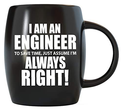 Engineering Gifts I'm Engineer Save Time Assume Always Right Science Math Funny Novelty Christmas Birthday Grad Gag Gift Coffee Mug Tea Cup